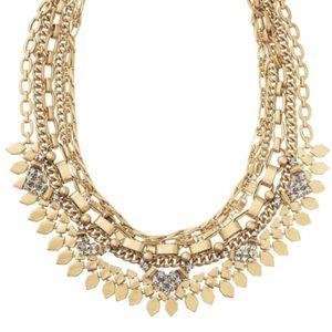 EUC Stella and Dot gold Sutton necklace